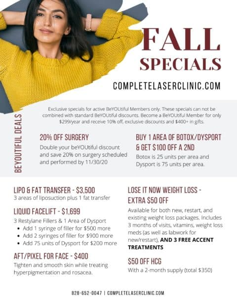 Complete Laser Clinic Fall Specials
